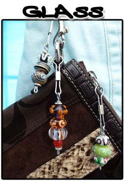 Glass Zipper Pulls